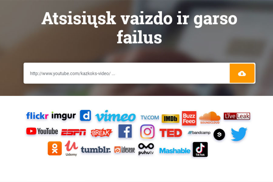 atsisiusti video ir muzika is youtube, facebook, vimeo ir kitu svetainiu