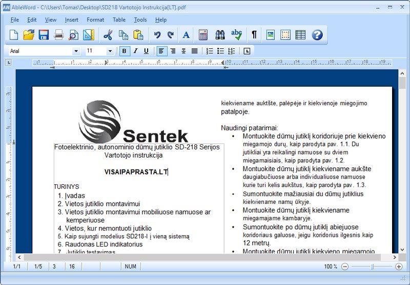 kaip redaguoti pdf