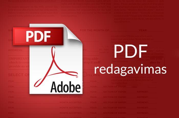 kaip redaguoti pdf failą