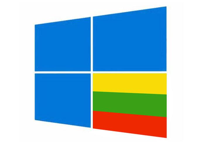 windows 10 lietuviškai