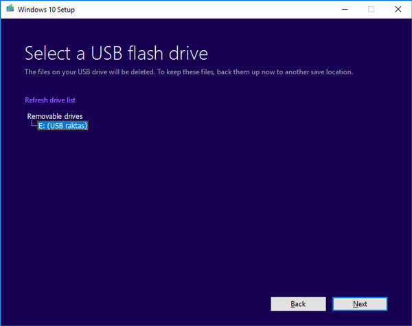 windows 10 usb raktas