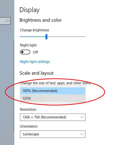 windows 10 šrifto dydžio pakeitimas