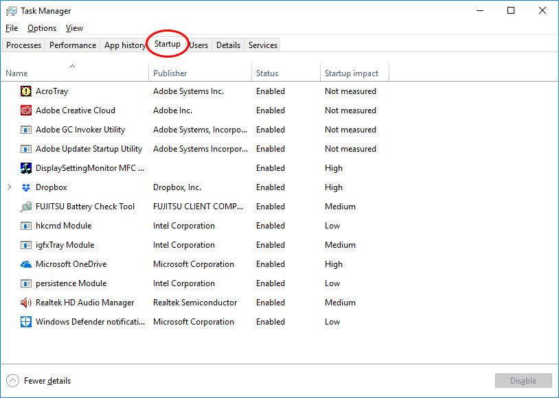 windows 10 startuojančios programos