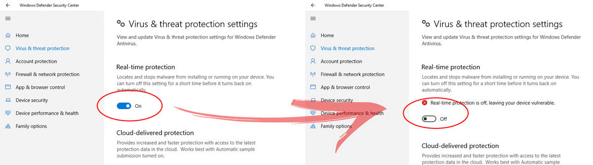 windows 10 windows defender isjungimas