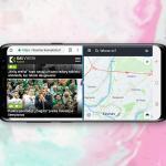 android du langai vienu metu ekrane
