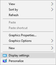 windows 10 ekrano nustatymai