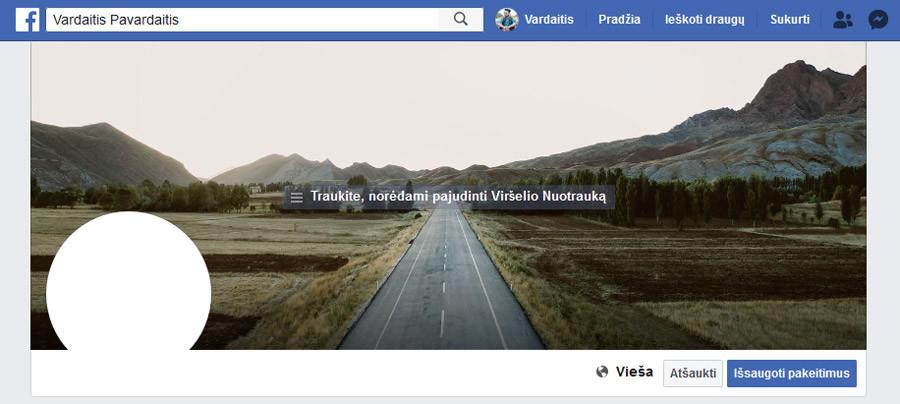 facebook viršelio nuotrauka