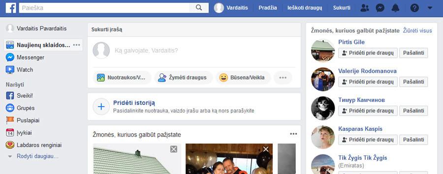 naujos facebook anketos sukūrimas