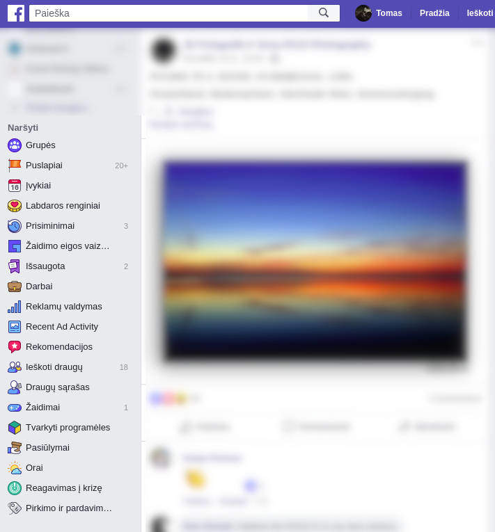 kitos facebook funkcijos