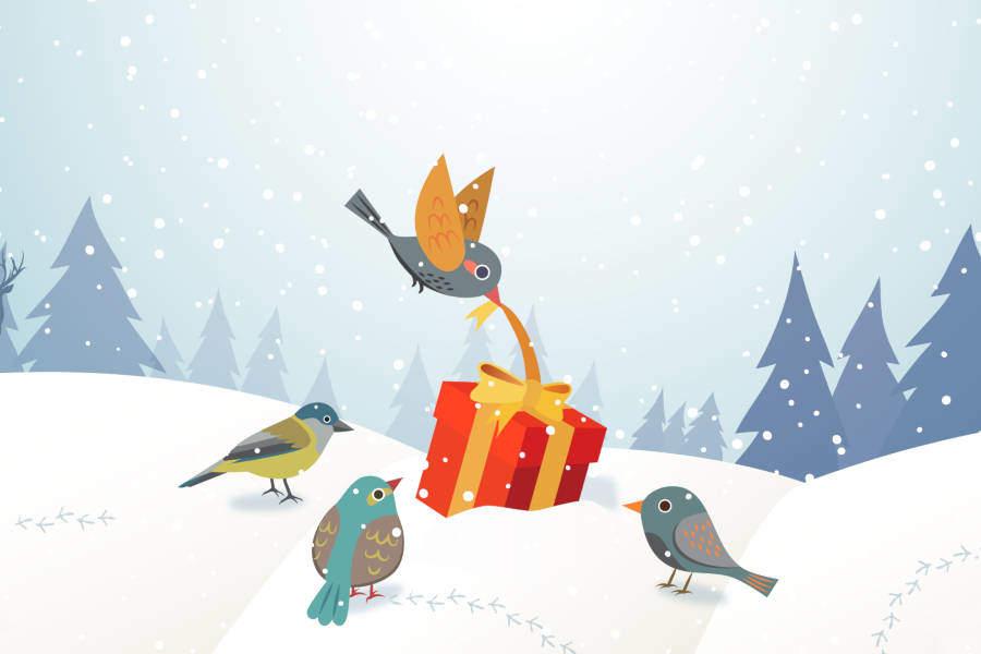 kalėdinis darbalaukio fonas