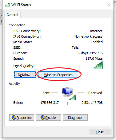 kur rasti wireless slaptažodį