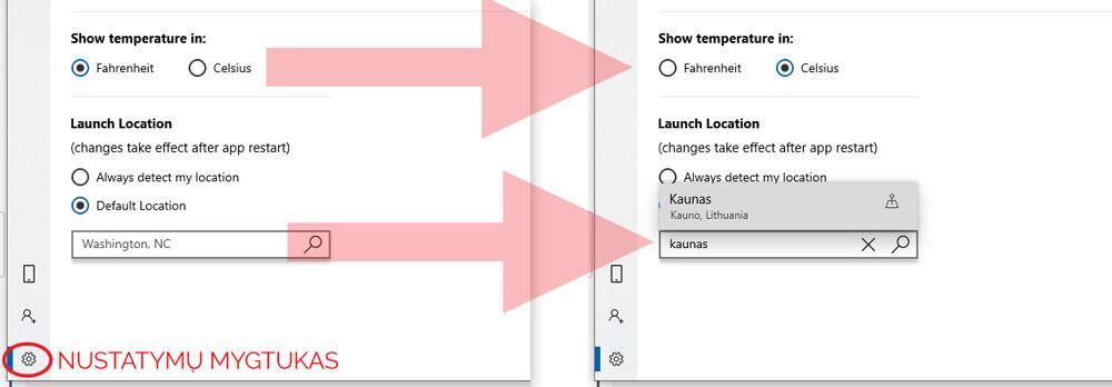 windows 10 orų prognozė kompiuteryje