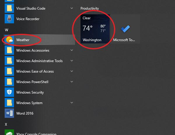 patikrinti orų prognozę kompiuteryje