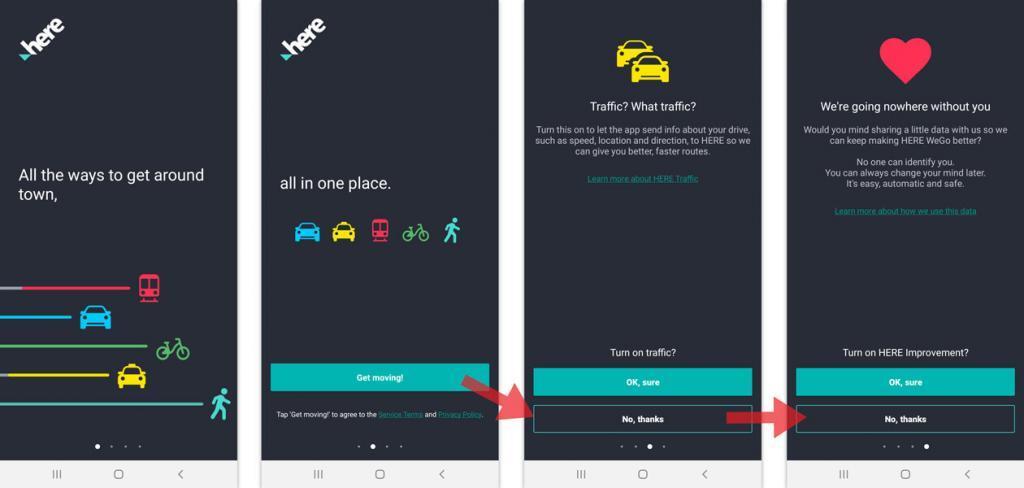 nemokama navigacija telefone važiuojantiems automobiliu, divračiu, ar einant pėščiomis