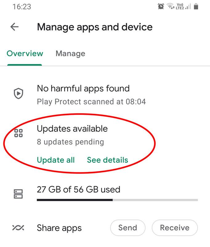 android atnaujinimai