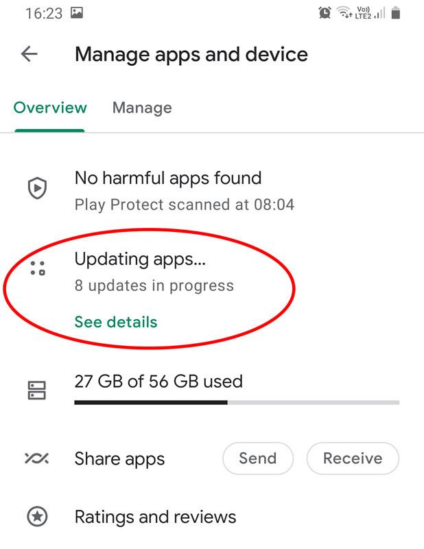 android programėlių atnaujinimas